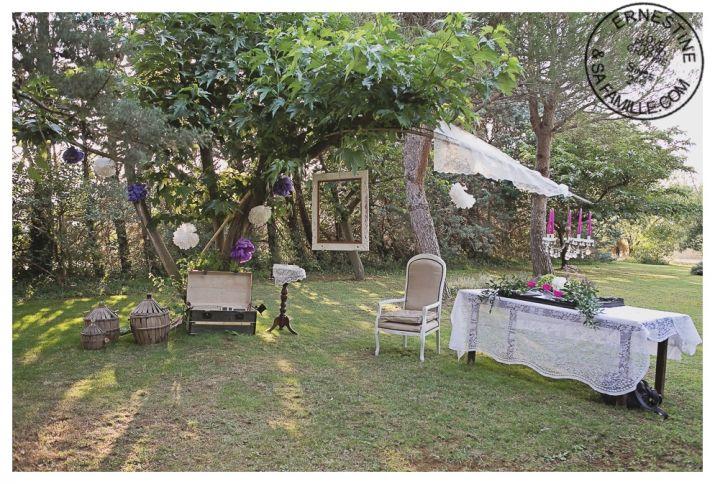 Décoration de jardin pour un cocktail en extérieur
