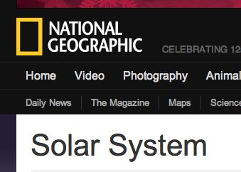 National Geographic: Solar System