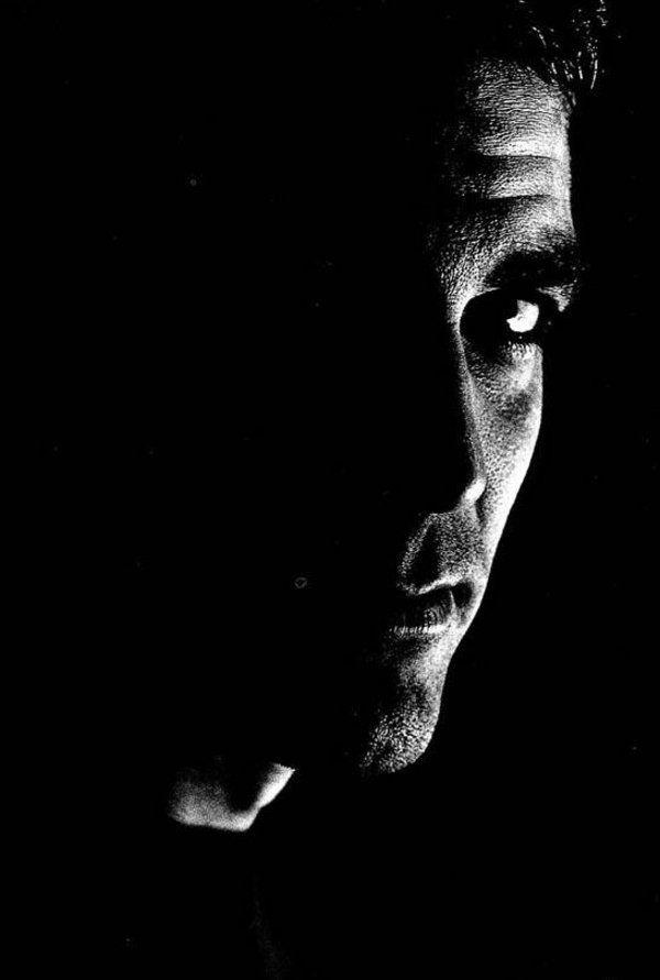 Photographie noir et blanc de George Clooney