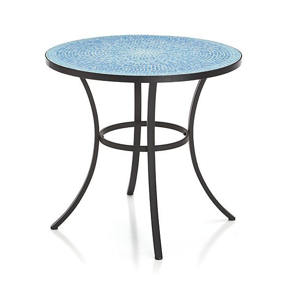 Elegant Mosaic Blue Bistro Table | Crate And Barrel