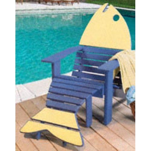 Superb Adirondack Style Chair Plans | Images Of Adirondack Fish Chair Ottoman Wood  Pattern Yf33 Wallpaper