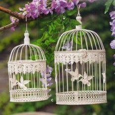 Gabbie per uccelli bianche rotonde - 2 dimensioni