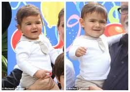 celine dion twins 2013 - hmmm sorry not the cutest twins I've ever seen