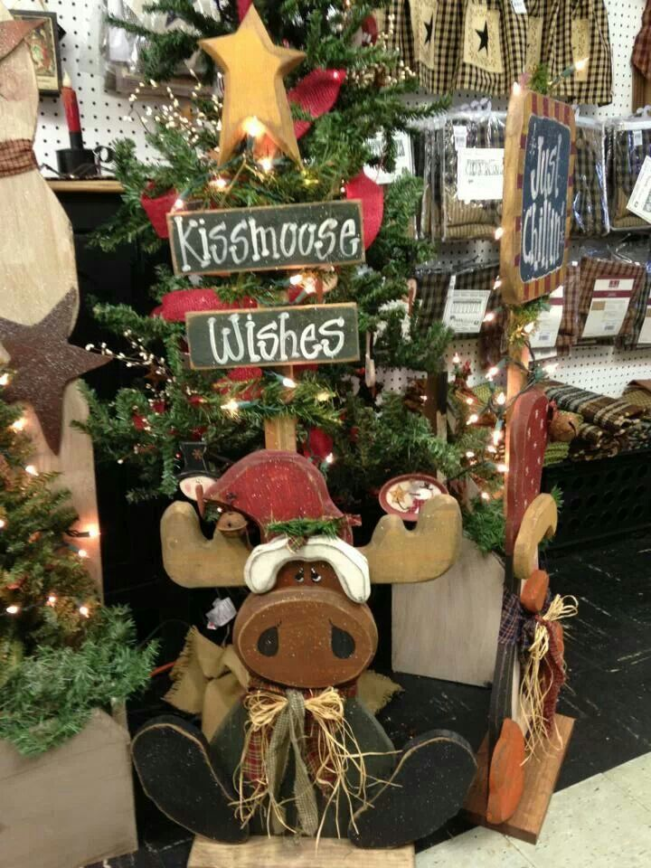 17 best Wood Things images on Pinterest Wood, Christmas ideas - moose christmas decorations