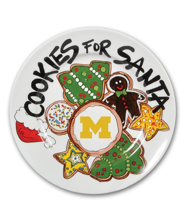 Take a look at this Michigan Wolverines Cookie Plate today!