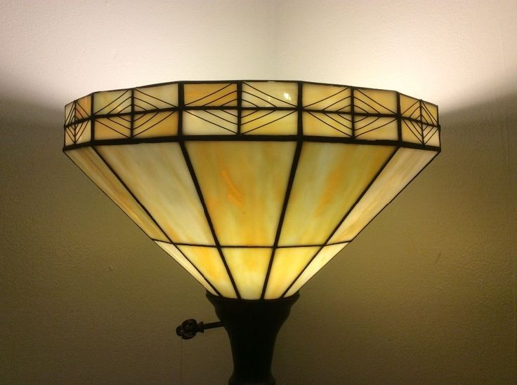 Lamp: Tiffany Style Stained Glass Leaded Replacement Floor Lamp Shade from The Tiffany Lamp Shades and The Abstract Pattern