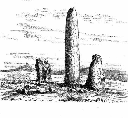 Ecco come il DellaMarmora rappresentava i menhir di Mamoiada qualche secolo fa...
