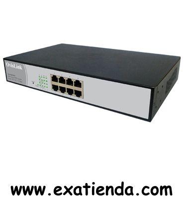 Ya disponible Switch Ovislink fsh 8wpoe+   (por sólo 195.99 € IVA incluído):   - Switch Fast Ethernet de 8 puertos POE 10/100 Mbps. RJ45. Todos los puertos RJ45 son auto MDI/MDI-X.  -Máxima Flexibilidad. Su combinación de puertos le permite adaptarse a todo tipo de instalaciones, a la vez de ser idóneo para evitar cuellos de botella entre la red y el servidor.  - Gestionable. Este Switch incorpora funciones de gestión, tales como: VLAN, TAG VLAN, Bandwith control, Por