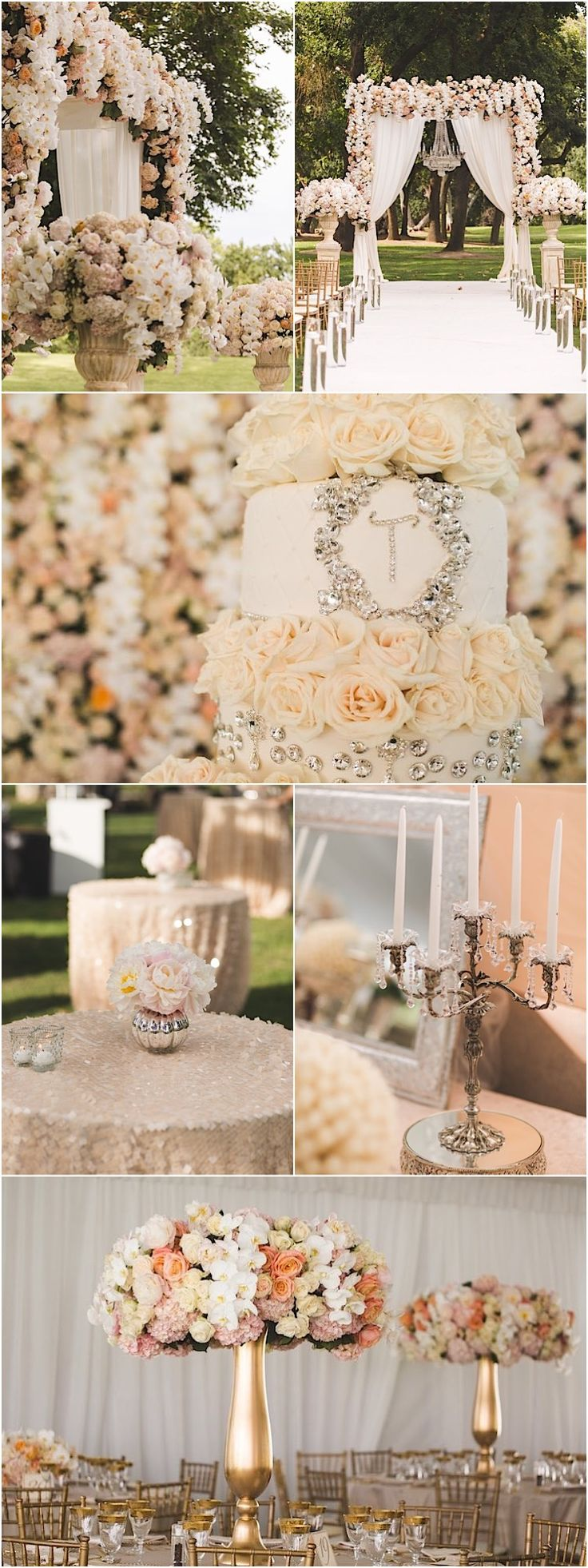 Gorgeous wedding reception with luxurious details; featured photographer: Reverie VP