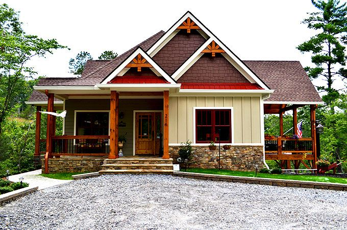 Lake wedowee creek retreat house plan lake house plans Small cabin plans with basement