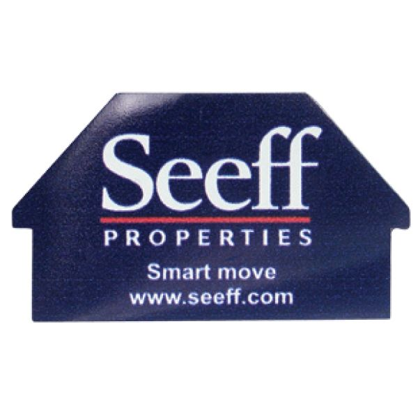 MAG112 Real Estate Magnet with Full Colour Print Product Size: 55 x 32mm Branding: Digital print - Full Colour  Branding Area: Corner to Corner Material: Laminated Magnet