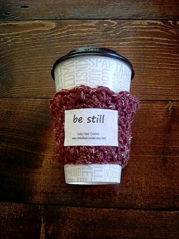 Inspirational Cup Cozy BE STILL