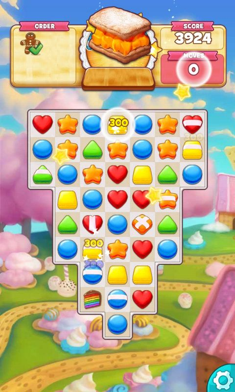 Cookie Jam, Action Phase / Game Play, Collect Ginger Bread Men - Match 3 Game…