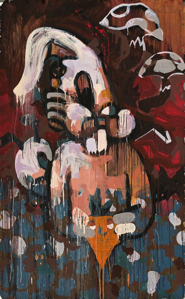 """""""RabbitHole I"""", 193 x 118 cm, 2014, mixedmedia, contempory istanbul 14"""