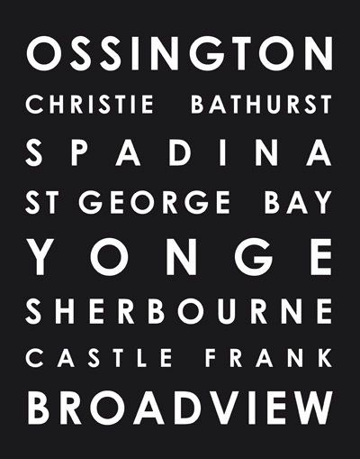 Toronto ttc streetcar / subway poster customize by streetcarprints, $20.00