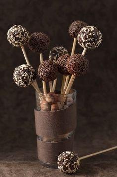 Sucettes de chocolat chocolate lollipops