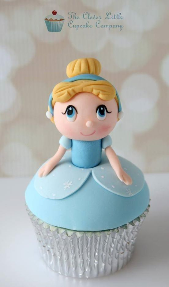 Kawaii Cinderella Cupcake made by The Clever Little Cupcake Company