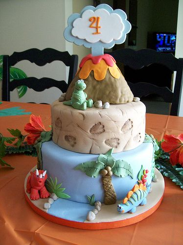 Dinosuar Cake - For all your cake decorating supplies, please visit craftcompany.co.uk