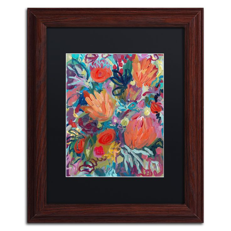 Carrie Schmitt 'Mil Besos' Matted Framed Art