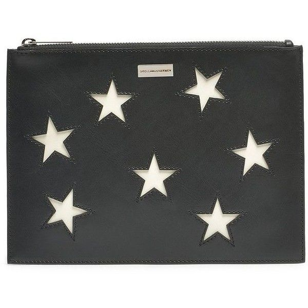 Stella McCartney Stars Zip Pouch ($475) ❤ liked on Polyvore featuring bags, handbags, clutches, stella mccartney pouch, handbags clutches, stella mccartney handbags, man bag and star purse