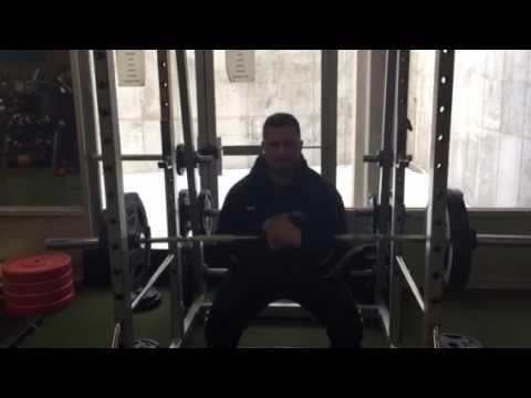 Zercher squats with coach Gary Miller