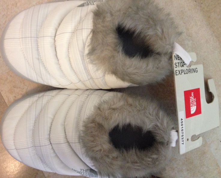 North Face Women's NSE Tent Mule Faux  Fur II XS X-Small 5.5-7 Down Slippers