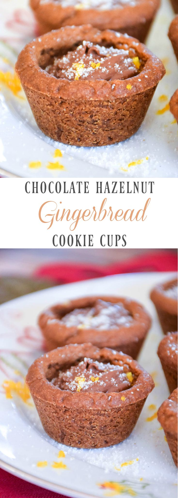 Chocolate Hazelnut Filled Gingerbread Cups - spread some cookie cheer this holiday season! #BakeWithBetty #GetYourBettyOn #HolidaysWithBetty https://ooh.li/526ed4d