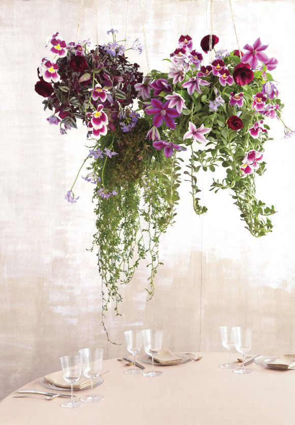UNCOMMON FLORISTRY MATERIALS – CLEMATIS, RASPBERRIES & GREEN TOMATOES - uncommon florals by martha stewart via www.pithandvigor.com