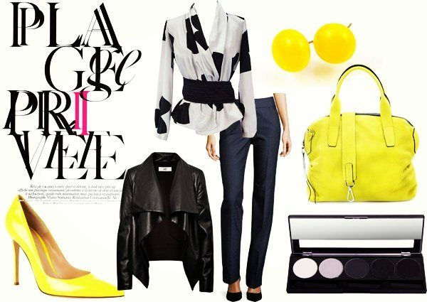 Grey and yellow spring collection. #nyiriandrea #polyvore #yellow #simple #earrings #jewelry #ékszer