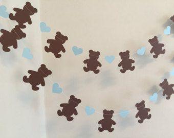 Guirlande d'ours en peluche. Ours & arcs. Bébé par MyPaperPlanet
