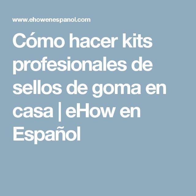 Cómo hacer kits profesionales de sellos de goma en casa | eHow en Español