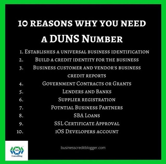 10 Reasons You Need A Duns Number Business Checklist Small Business Finance Small Business Loans