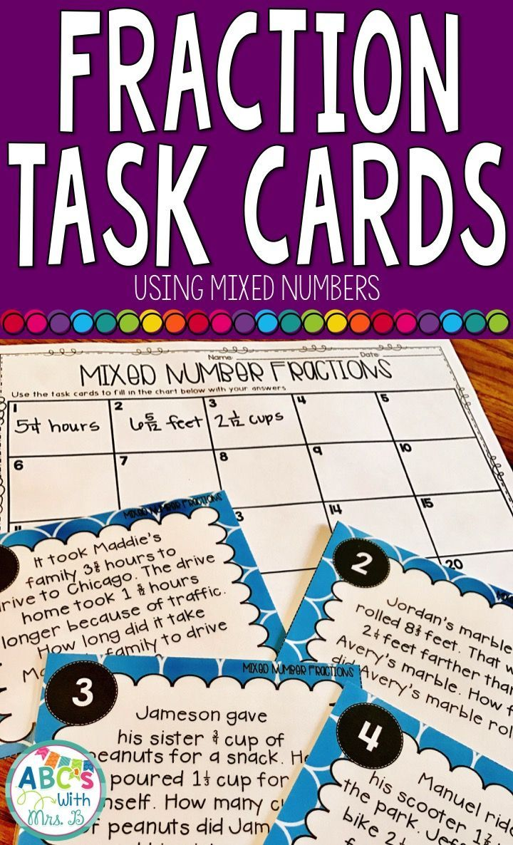 Use these mixed number fraction task cards to reinforce adding and subtracting fractions with uncommon denominators and word problems at the same time!