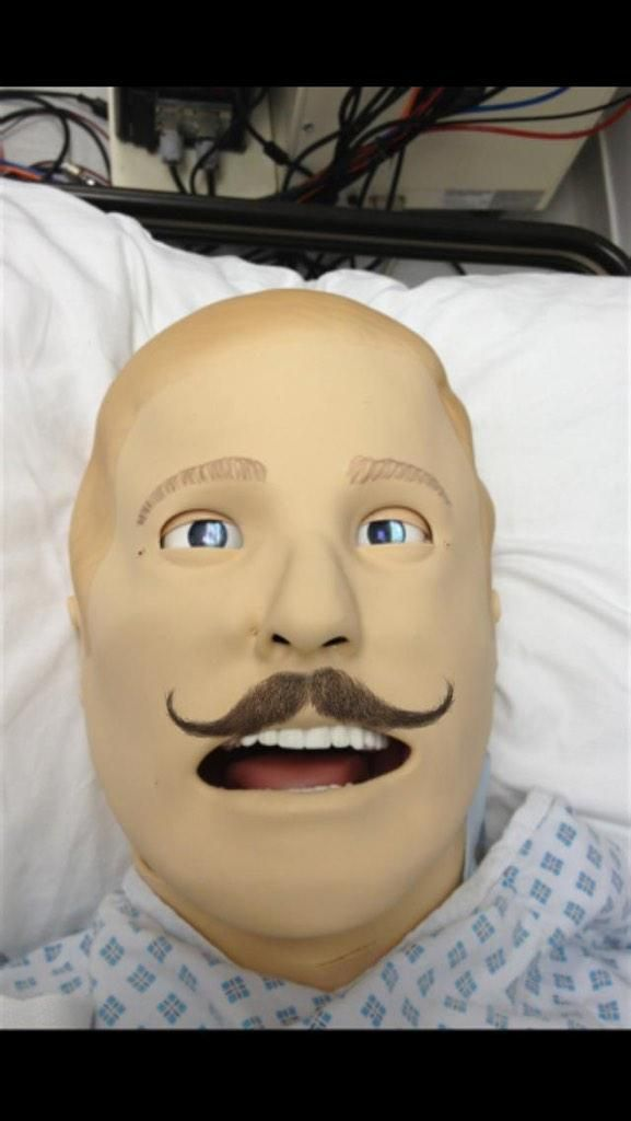 Dave (SimMan3G) taking part in #Movember2014 pic.twitter.com/hyqpRaxakq