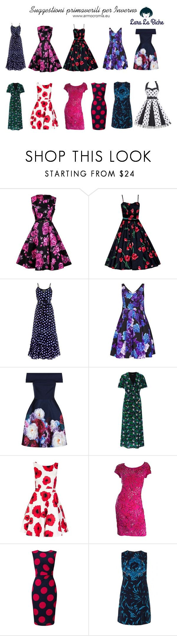 """""""suggestioni primaverili inverno"""" by laralabiche ❤ liked on Polyvore featuring Boutique Moschino, City Chic, Ted Baker, Saloni, Carmen Marc Valvo, Phase Eight and Versus"""