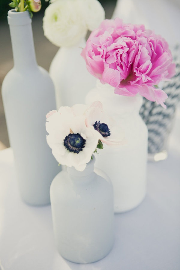 painted bottles    Photography by onelove-photo.com, Wedding Design   Coordination by mydandelionevent.com, Floral Design by houseofmagnolias.net