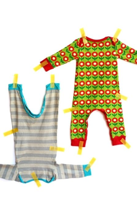 Een jumpsuit om zelf te maken | Kiind Magazine Free romper pattern - great pictures, easy to follow without translation.