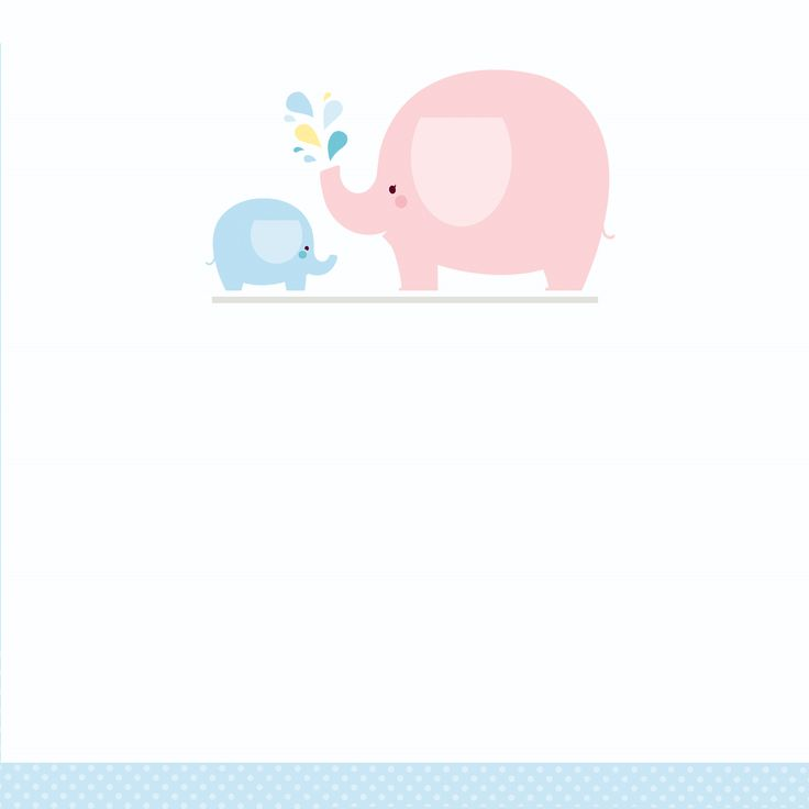 Blue Baby Elephant - Free Printable Baby Shower Invitation Template | Greetings Island