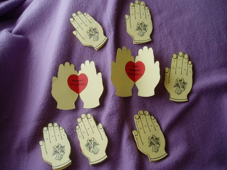 vbs crafts prayer | Praying hands craft. We let the kids write special things they pray ...