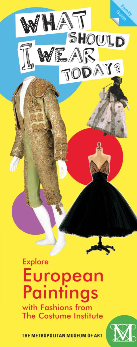 What Should I Wear Today? | Show your style as you explore the European Paintings galleries and fashions from The Costume Institute! #kids #education #fashion