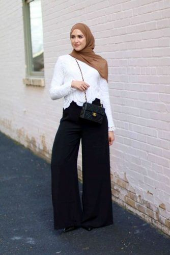 palazzo pants with lace top- New street looks by Leena Asaad http://www.justtrendygirls.com/new-street-looks-by-leena-asaad/