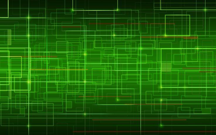 Green Abstract Desktop