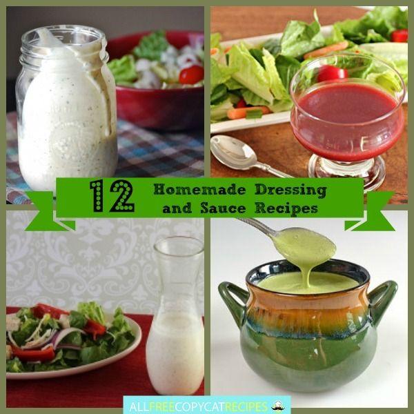 How to Make Salad Dressing and Copycat Sauces: 12 Homemade Dressing and Sauce Recipes | AllFreeCopycatRecipes.com