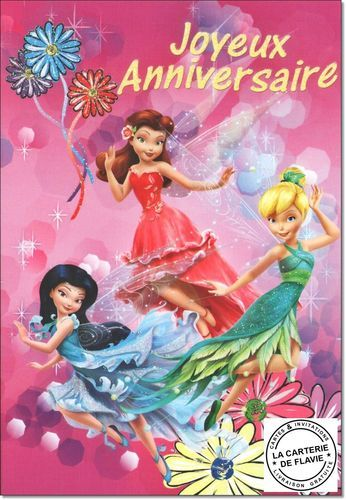 Carte Disney Anniversaire la Fée Clochette à retrouvez sur le site de la Carterie de Flavie #Disney #LaCarterieDeFlavie #Anniversaire #Birthday #FéeClochette  http://lacarteriedeflavie.com/cartes-Disney-fee-Clochette-anniversaire-fete-invitation