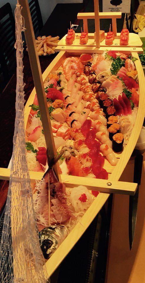 Tuxedo Sushi - Tuxedo Park, NY, United States. Sushi boat!!