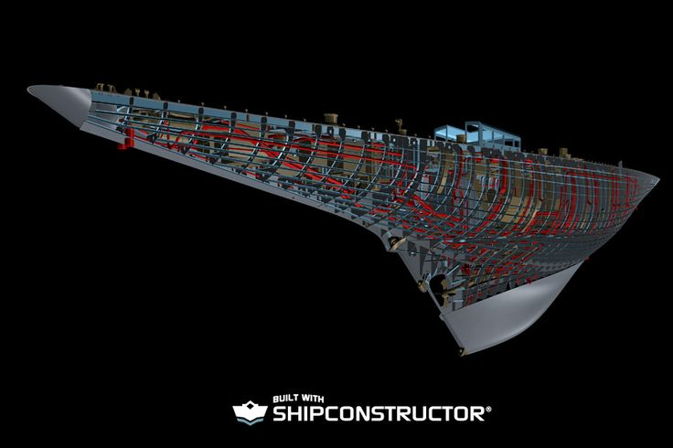 The Royal Huisman Endeavour. Autodesk Navisworks 3D engineering model rendering of ship #Shipbuilding