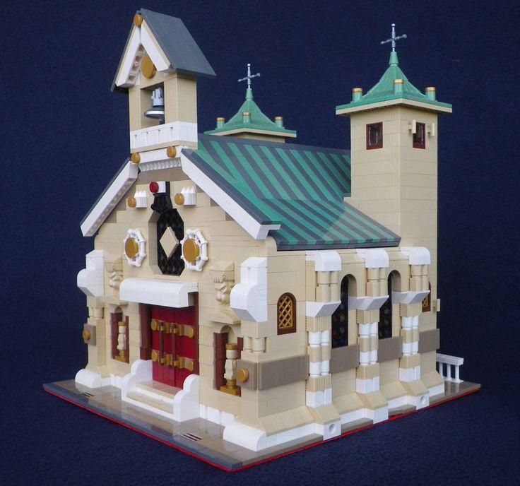 LEGO MOC Custom Modular Roman Church instructions 10243-10218-10251-etc. | Toys & Hobbies, Building Toys, LEGO | eBay!