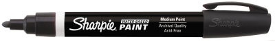 Sharpie Paint Pens are water-based opaque paint markers that are archival quality, making them great for scrapbooking, art projects, posters and signs. Water and fade resistant ink will not bleed through heavyweight paper. Acid free. Available in 12 vibrant colors for light and dark surfaces. 5 point sizes. AP Certified.