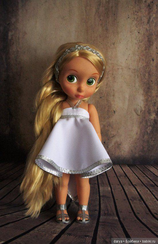 Выкройка платья для куклы Дисней Аниматорс в греческом стиле / Выкройки одежды для кукол-детей, мастер классы / Бэйбики. Куклы фото. Одежда для кукол