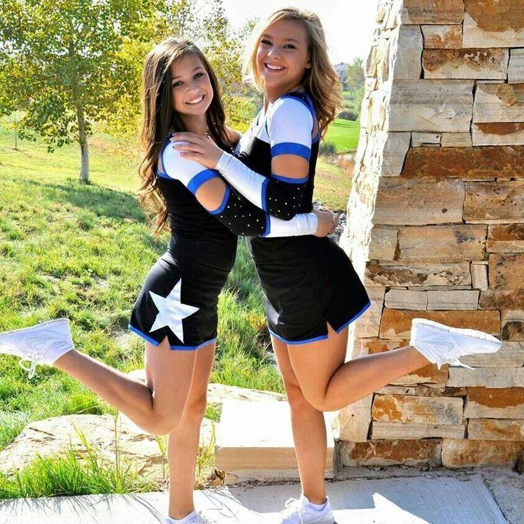 Sisters or best friends in cheer uniform!!!